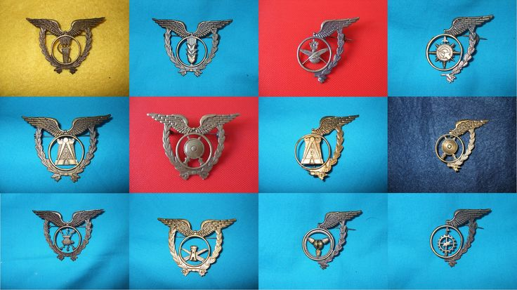 Portuguese Air Force specialty badges.