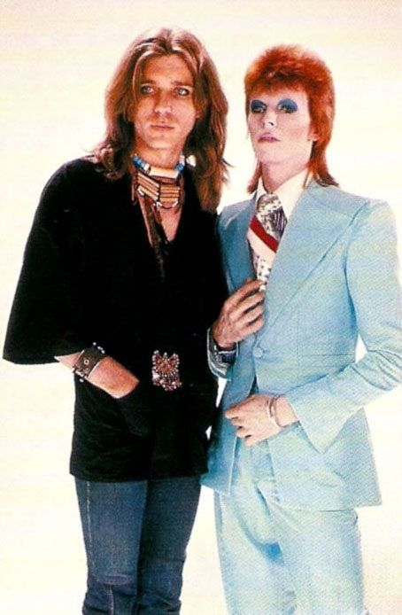 Pierre La Roche and David Bowie from Life On Mars video 70s.