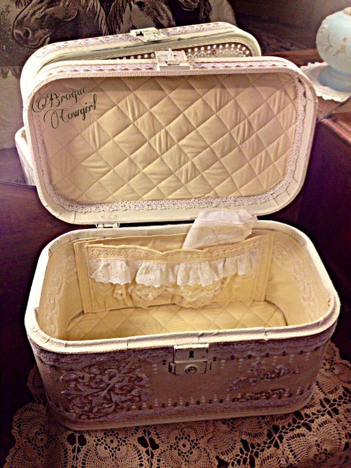 Vintage Train Case redo interior