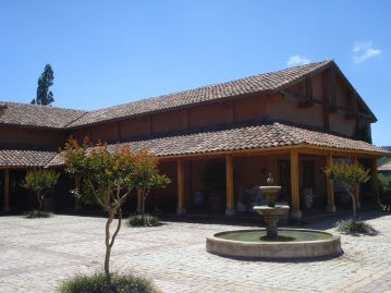 Casa Marín's beautiful architecture and mosaics make it a picturesque place to enjoy wine in the San Antonio Valley of Chile.