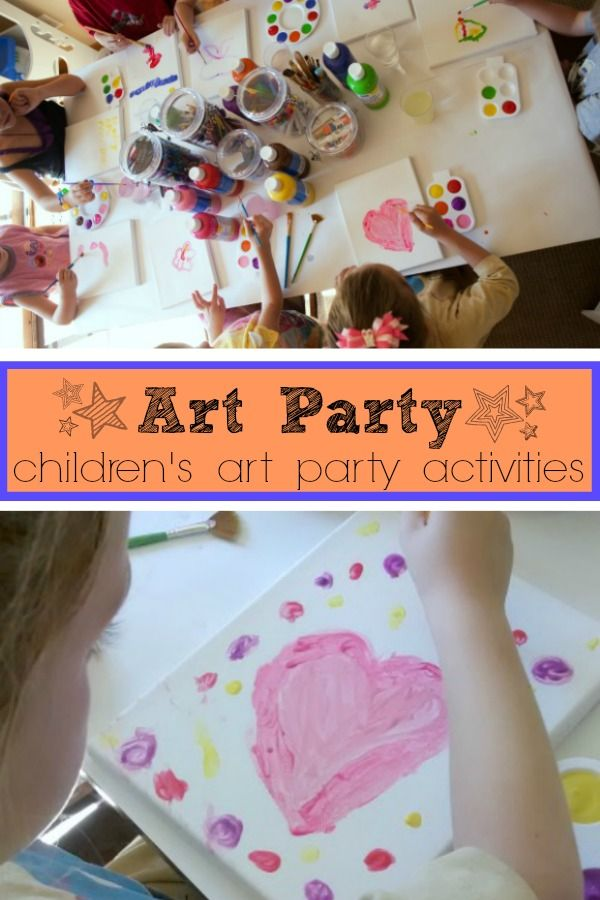 Art Party activities and ideas! An art party is easier to put together than you think and kids will have a blast! | http://www.evolvingmotherhood.com