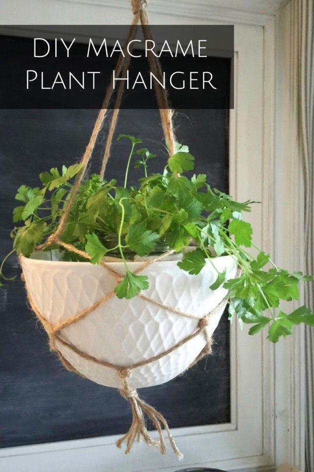 DIY Macrame Plant Hanger Pin Image