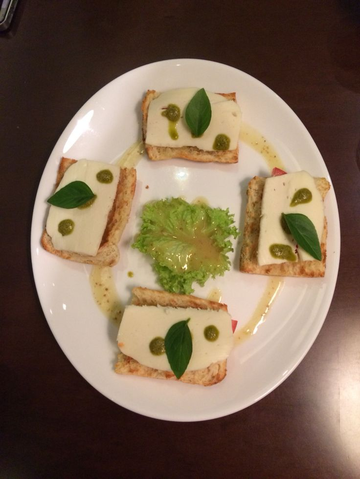 Bruschetta Mozzarella Tomato & Pesto Served @ Corso Como Cafe • food bar @ Central Square @ Markopoulo