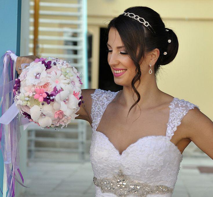 """Vasilissa unikatni bidermajer od papira MIA - """"U nijansama ljubičaste do svetlo lile, bele, zelene i pink... """"da bude nežan, romantičan, raskošan i elegantan - baš kao za princeze"""" -♥ Vasilissa Tatijana ♥"""