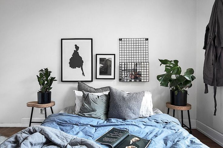 Scandinavian Style | Stockholm apartment with a touch of blue | bedroom 2