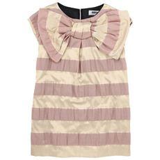Rykiel Enfant - Pink and gold striped dress - 43541