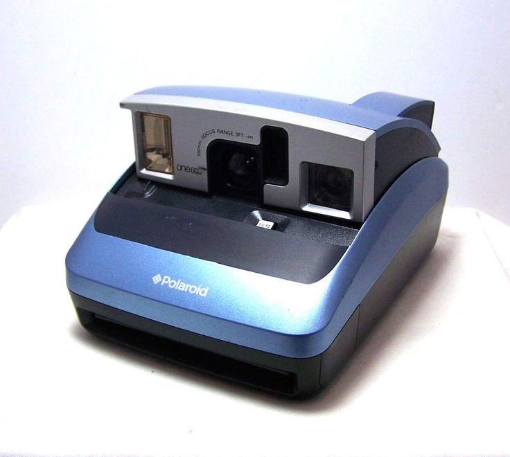 Vintage Blue Polaroid  600 Instant Film Camera Pop Open- Film Tested -Works #Polaroid