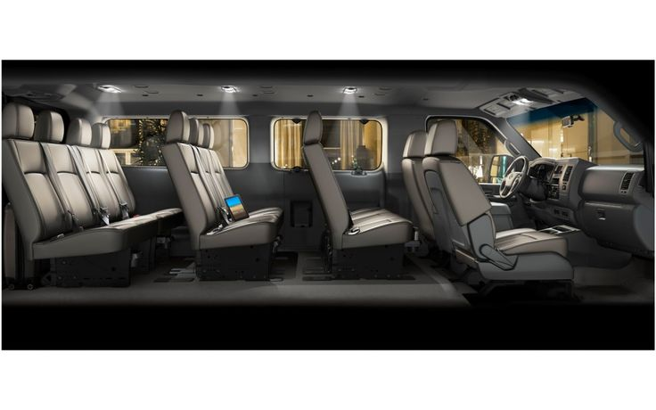 "2012 new Nissan Nv 12-passenger ""van."" Bring the whole family and maybe some extras."