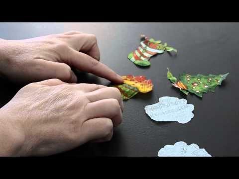 Decoupage χριστουγεννιάτικο στο σαπούνι γλυκερίνης - YouTube