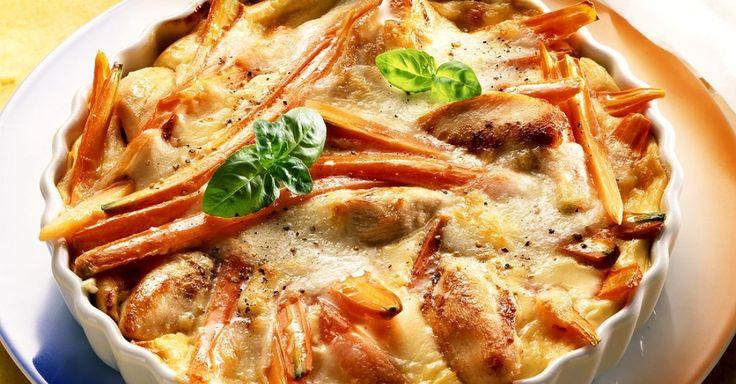 Hähnchen-Möhrengratin ist ein Rezept mit frischen Zutaten aus der Kategorie Geflügel. Probieren Sie dieses und weitere Rezepte von EAT SMARTER!