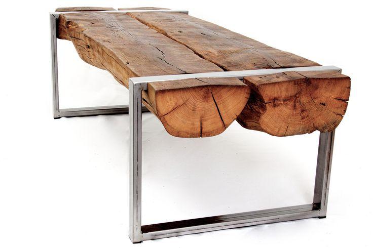 1000 id es sur le th me poutre en bois sur pinterest for Table basse recuperation