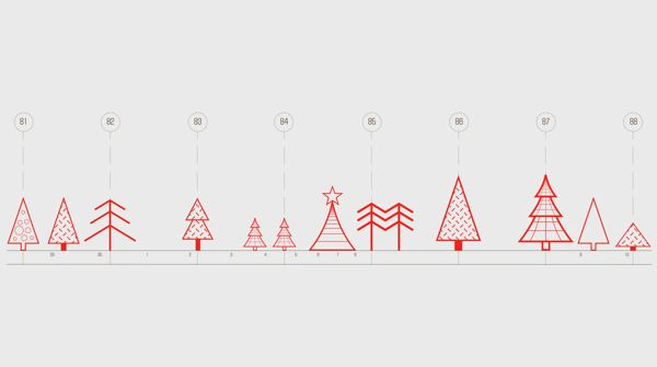 Holiday Cards for Architecture Company by Masha Eizner, via Behance
