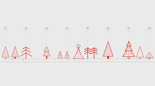 Holiday Cards for Architecture Company by Masha Eizner, via Behance
