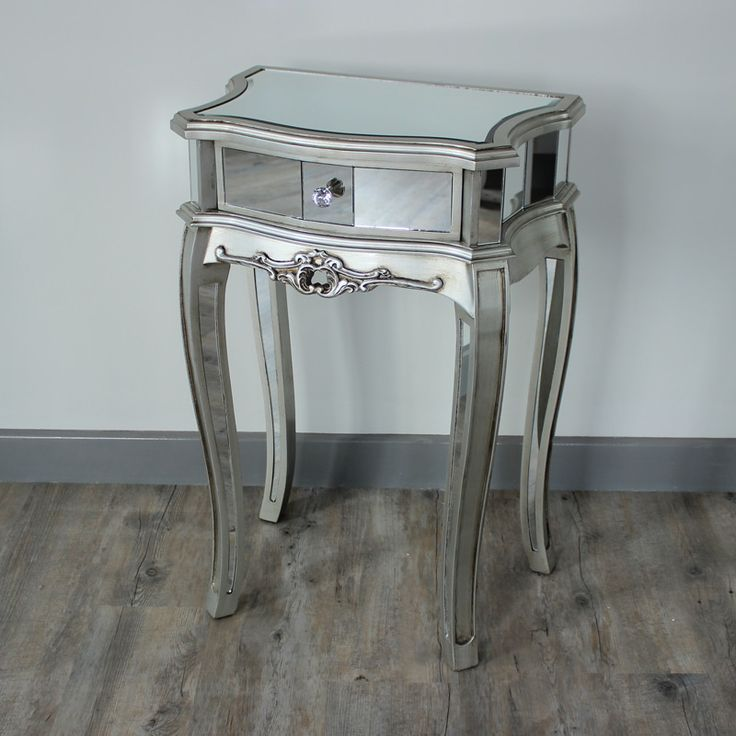 Florence 3 Drawer Mirrored Bedside Table Design Ideas