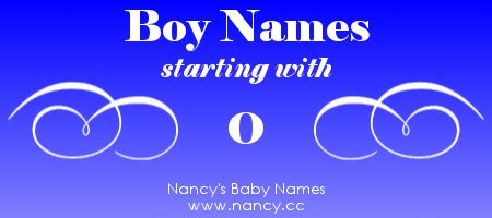 Big list of boy names starting with the letter O. Each name links to a popularity graph. #babynames