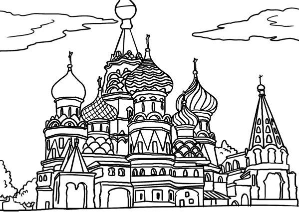 malvorlage basilius kathedrale  ausmalbilder ausmalen