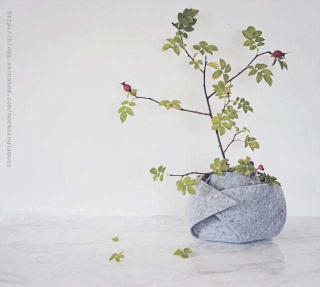 make your own rosebowl in felt | DIY Mormorsglamour