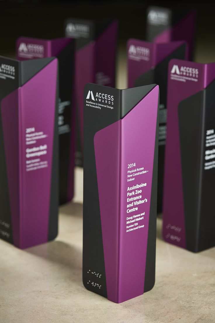We included Braille on these awards so people with vision impairments can read them. Design collaboration between Andrew Watson Design and Bounce Design. Photography by Tony Nardella - Nardella Photography