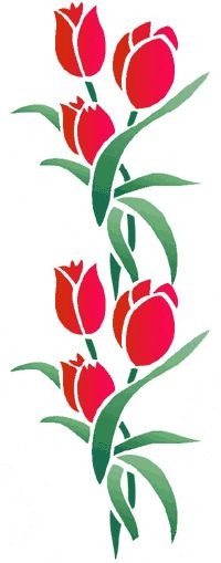 Tulip design - good for bead embroidery inspiration.