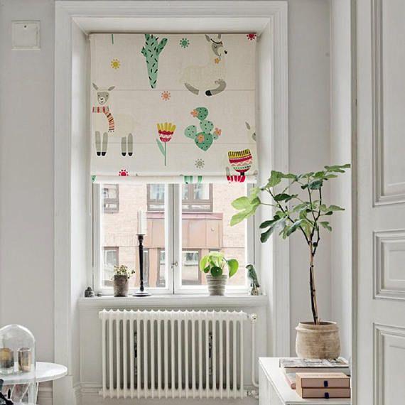 Patio Room Kit >> ALPACA FARM DAY roman shade kit, custom fabric blinds ...