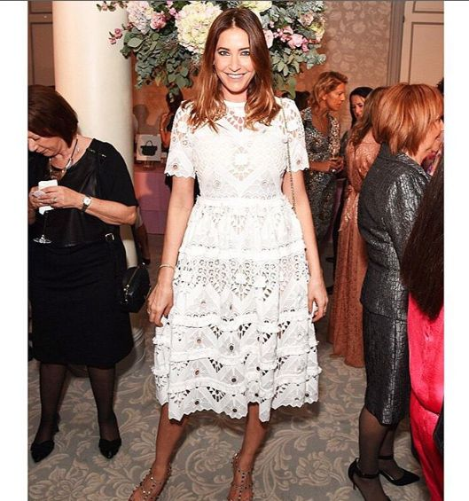 Lisa Snowdon rocking the @shop_alexis Benati Dress at the Breast Cancer luncheon!!!  #alexis #dress #love