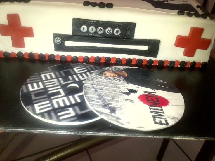 Eminem CD player cake with Edible CD's
