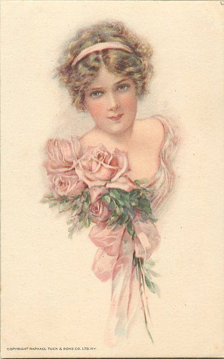 pretty girl, corsaget of pink roses