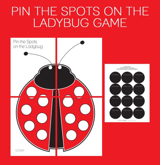 Printable Pin the Spots on the Ladybug Game