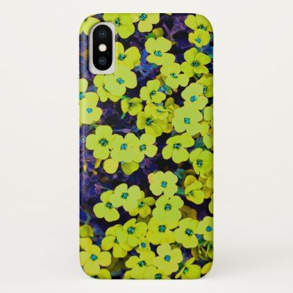 Small Yellow Flowers iPhone X Case - spring gifts beautiful diy spring time new year