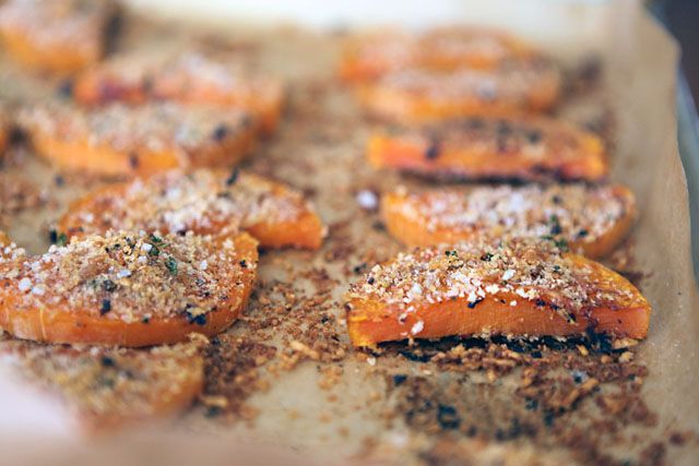 Roasted, crusted butternut squash