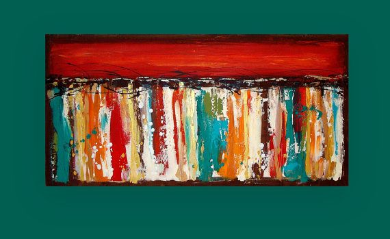 Pinturas acrílicas arte abstracto moderno lona por OraBirenbaumArt