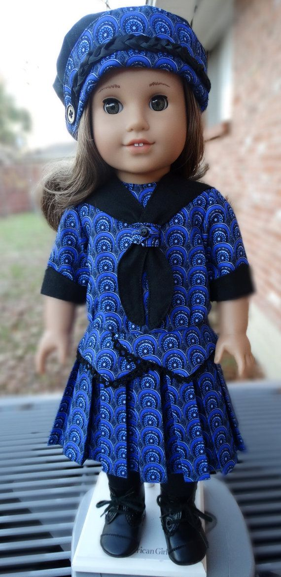 Early 1900's Style Dress and Hat for AG Dolls by Designed4Dolls on Etsy $22.95