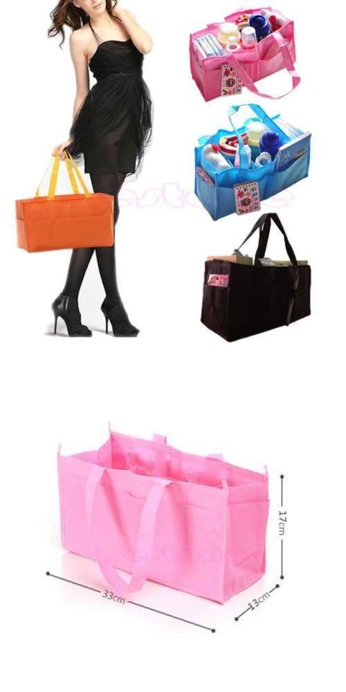 [Visit to Buy] Practical Mother Handbag Baby Diaper Nappy Bag Milk Bottle Storage Organizer #Advertisement