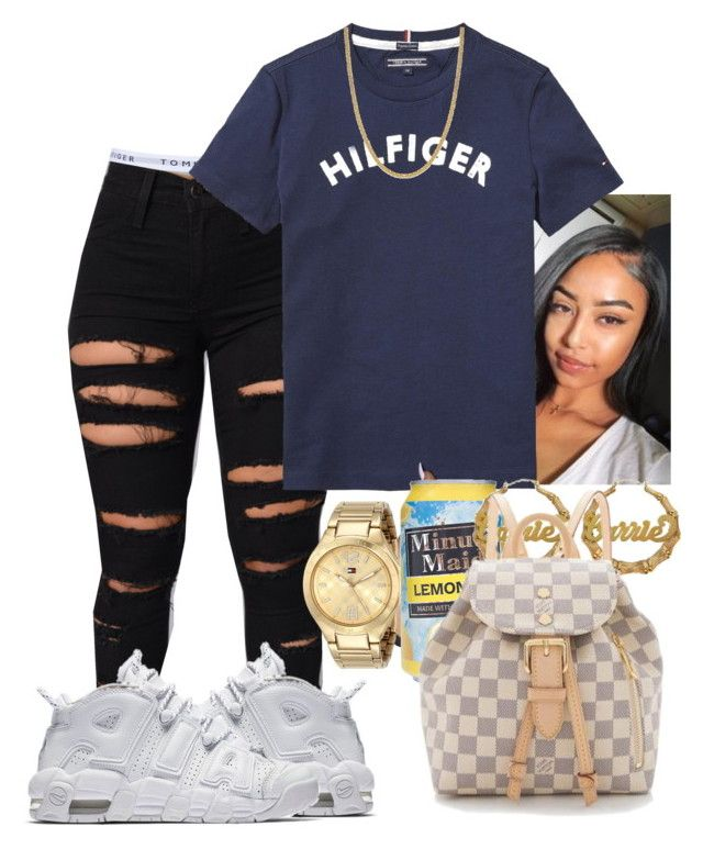 """Hilfiger it out❤❤"" by kashharmonii ❤ liked on Polyvore featuring Topshop, Tommy Hilfiger, Giani Bernini and Louis Vuitton"