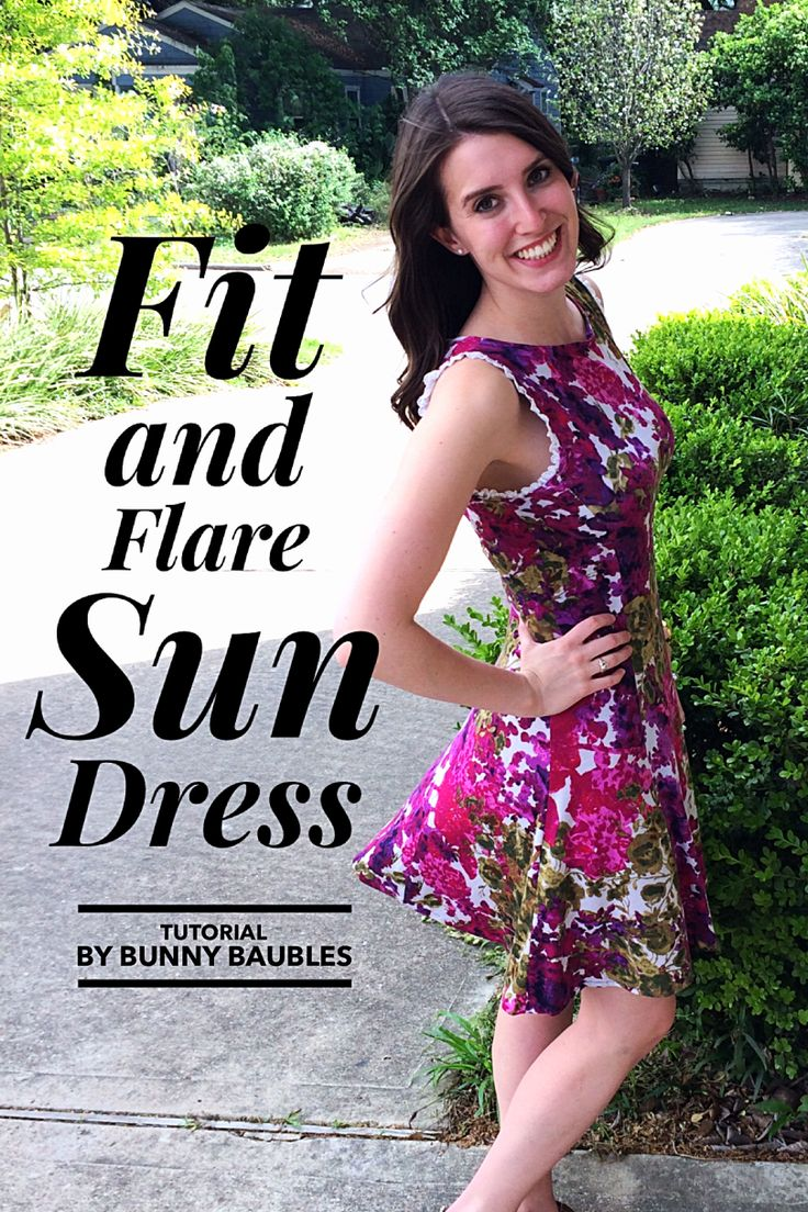 DIY Fit and Flare Sun Dress Pattern by Bunny Baubles Blog - Full dress tutorial!