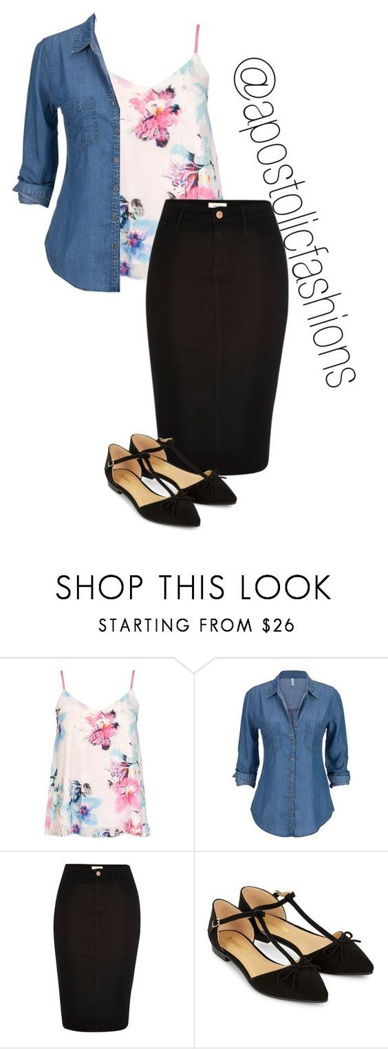 """""""Apostolic Fashions #1401"""" by apostolicfashions ❤ liked on Polyvore featuring Dorothy Perkins, River Island, Accessorize, modestlykay and modestlywhit"""