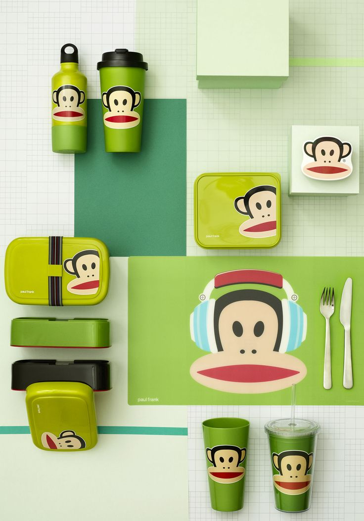 Go green with our collection of Paul Frank products for lunch. Design by Room Copenhagen