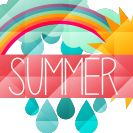 Summer's Here! Celebrate with Faceted Summer Banner Vectors
