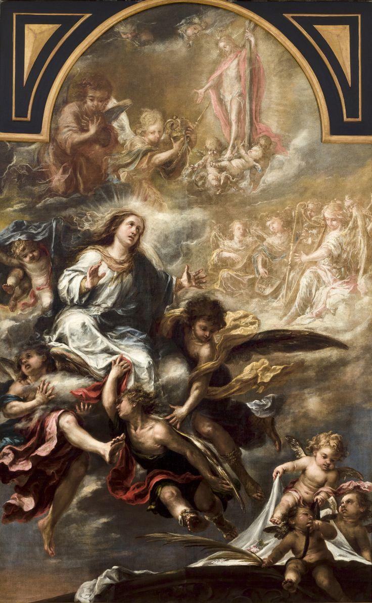 """""""Asunción de la Virgen"""" Juan de Valdés Leal (Sevilla, 1622 - 1690) Óleo sobre Lienzo 315 x 200 cm. h. 1670 Procedencia Convento de San Agustín. Sevilla. Museo de Bellas Artes de Sevilla"""