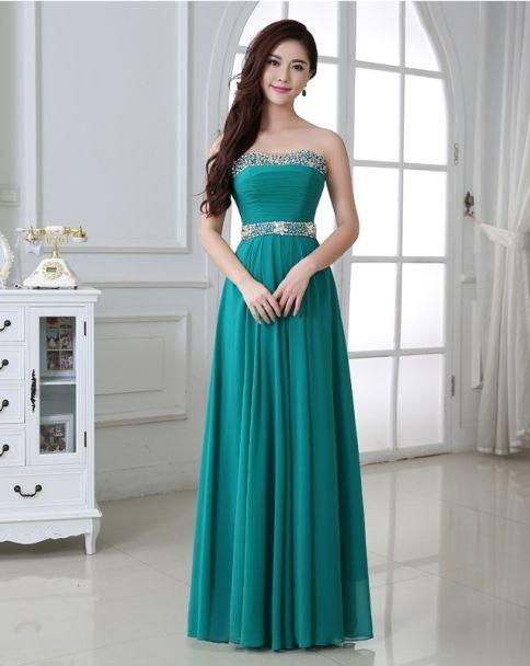 Resultado de imagen para vestidos color verde jade