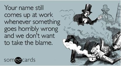 Ah, the old ex-employee scapegoat routine. Ive Seen this one way too many times