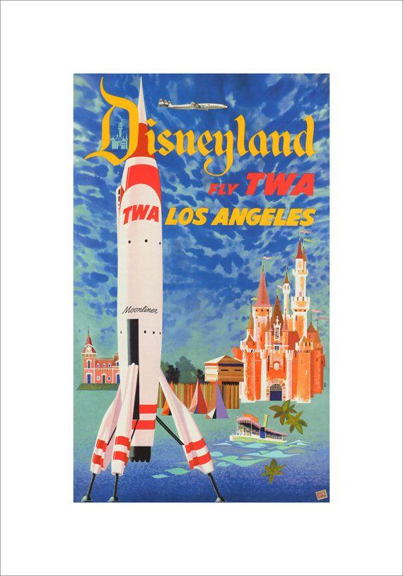 Disneyland Print matted to 16x20 frame $39