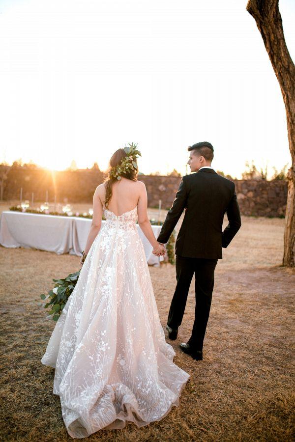 Bride and groom  #wedding #weddings #weddinginspiration #engaged #aislesociety #greenerywedding
