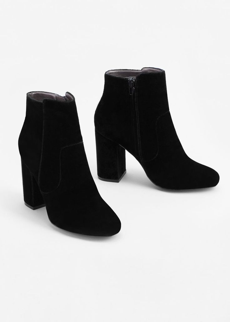 Velvet heel ankle boot -  Woman | MANGO USA