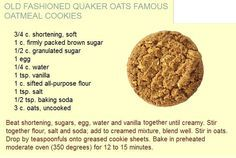 I think what made the homemade oatmeal cookies taste so good when I was a kid was the Crisco shortening. I want to make them again and see if they are as delicious as I remember and better than when made with butter. Optional: 1 cup raisins, walnuts, etc.