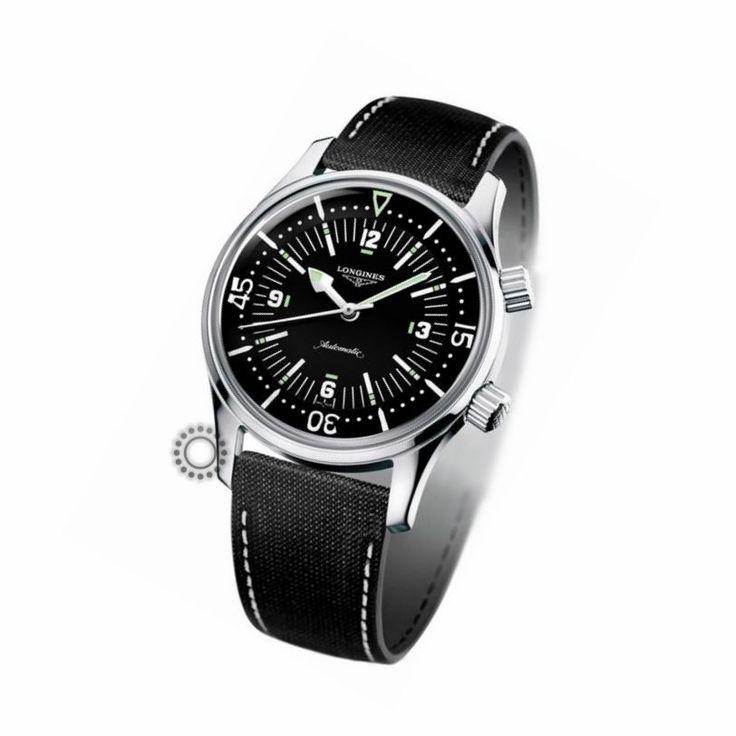 The LONGINES Legend Diver Watch - Heritage Collection - L36744500 - Ανδρικό μαύρο καταδυτικό αυτόματο ρολόι LONGINES | LONGINES ρολόγια στο Χαλάνδρι #heritage #longines #ρολόγια