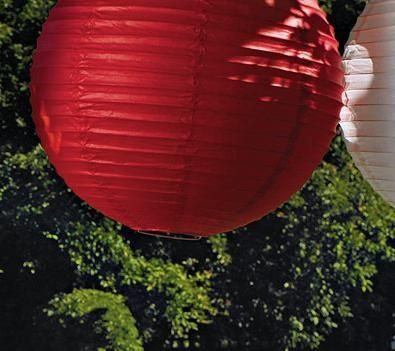 Balloons only last so long but you can pull these paper ball lanterns out time and time again! They look amazing too! Ruby Red Paper Ball Lanterns in Three Sizes