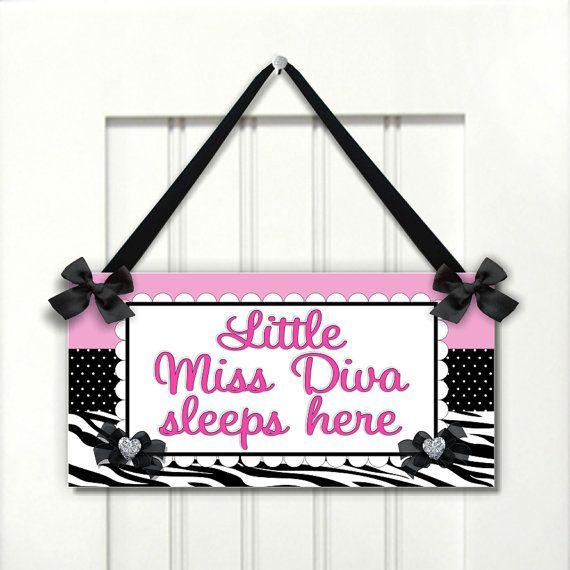little miss diva sleeps here  girls bedroom shabby by kasefazem, $15.99