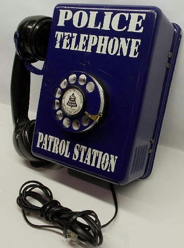 Vintage American Telephone Telegraph Hello Central Rotary Police Call Box