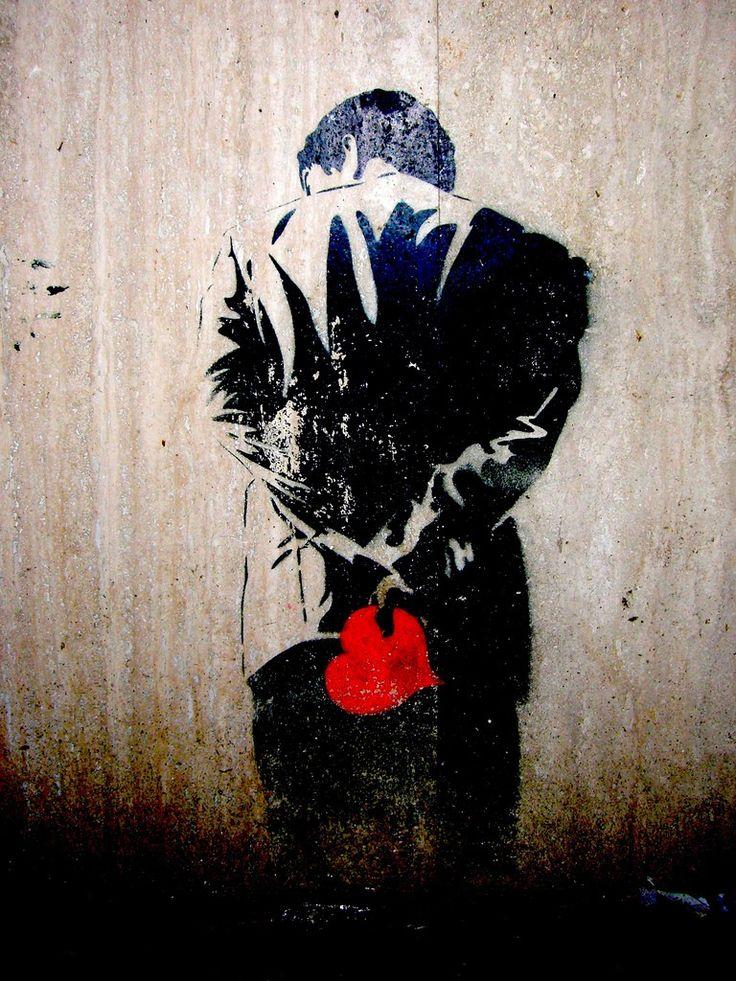 : Valentines, Street Art Utopia, The Artists, Heart Graffiti, Banksy, Street Art Love, Red Hearts, Art Street, Streetart